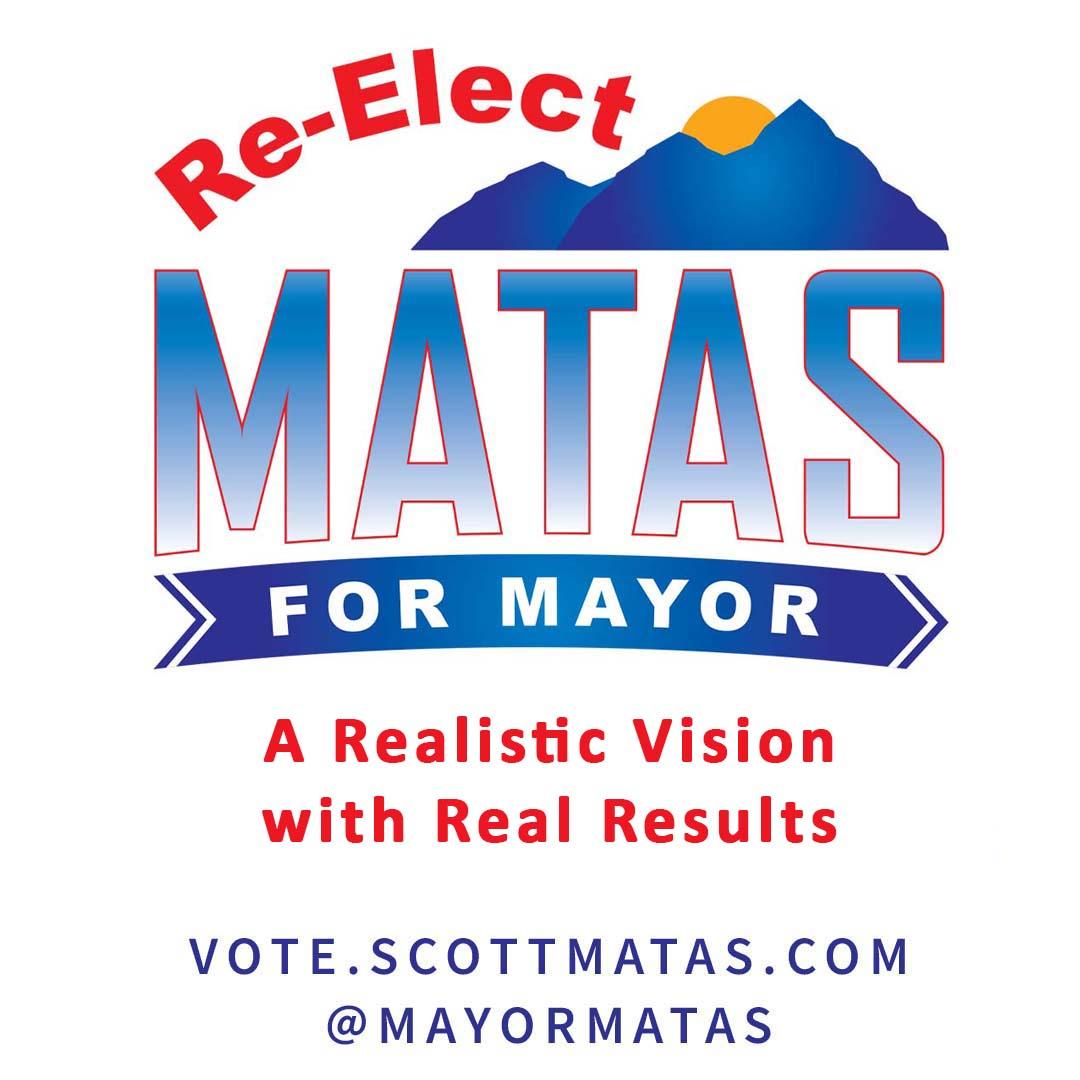 Re-Elect Scott Matas for Mayor - Instagram Graphic
